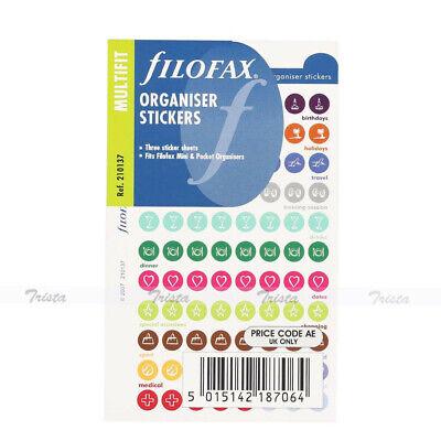 Filofax Book Minipocket Size Organiser Stickers Notepaper Refill Insert -210137