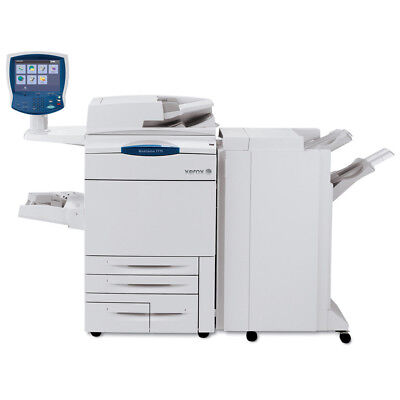 Xerox Workcentre 7775 Color Printer Scanner Copier Finisher Laser 250k 7755 7765