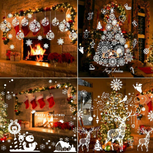 Home Decoration - Christmas Xmas Santa Removable Window Stickers Art Decal Wall Home Shop Decor