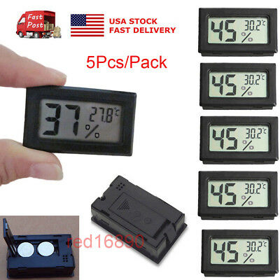 Humidity Thermometer - US 5Pcs Digital LCD Temperature Humidity Meter indoor Thermometer Hygrometer