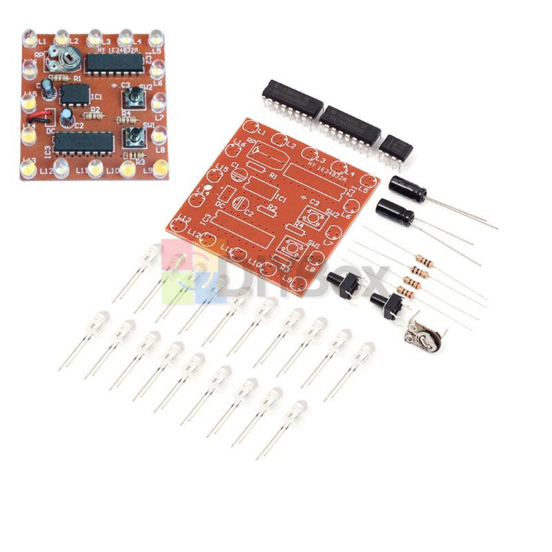 NE555+74HC595 DIY Light Water Flowing Lights 16Bit 16 Channel LED Module Kit