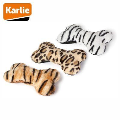 Karlie Plüsch-Hundespielzeug Knochen - Spielzeug Kuscheltier mit Quitschie