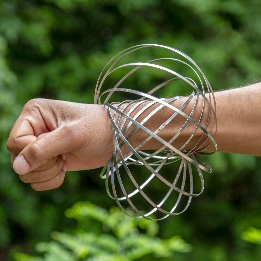 GloFX Flow Ring - Magic Kinetic Slinky Spring Toy Wrist Rotating Funky Fidget