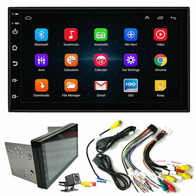 "Double 2Din 7"" inch Android 9.0 Quad Core Car Radio In Dash Stereo GPS BT Cam"