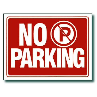 Red White 9 X 12 Inch Flexible Plastic No Parking Sign 2 Pc