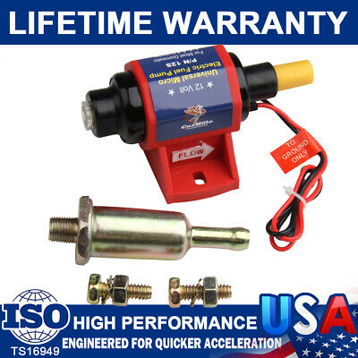 12S Universal Electric Fuel Pump Carburetor 12V Low Pressure Gas Gasoline 4-7PSI