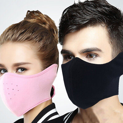 Cold Weather Thermal Fleece Ear Warmer Motorcycle Cycling Ski Half Face Mask US Cold Weather Face Mask