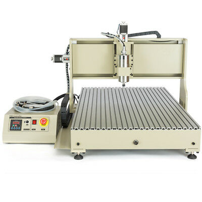 Usb 4-axis 6090 Cnc Router 2.2kw Vfd Engraving Machine Drilling Carving Engraver