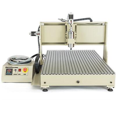 Usb 4-axis Cnc 6090 Router Engraver 3d Metal Carving Milling Machine 2200w Vfd