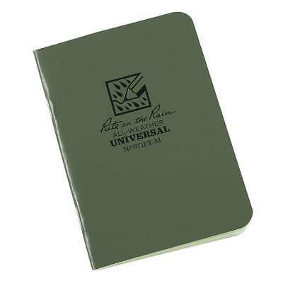 Rite In The Rain 971fx-m All-weather Universal Stapled Notebook Green Shot Show