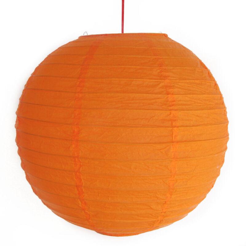 """2 of 12"""" Chinese Orange Paper Lanterns"""