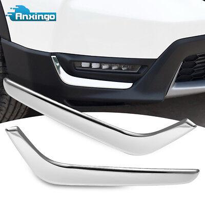 Chrome Fog Light Trim - Front Fog Light Lower Trim Fits Honda CRV CR-V 2017 2018 Chrome Stainless Steel