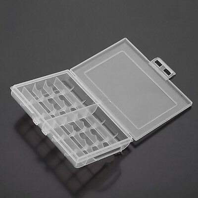 Useful 1x Hard Plastic Battery Case Box Holder Storage for 10 AA/AAA Batteries W