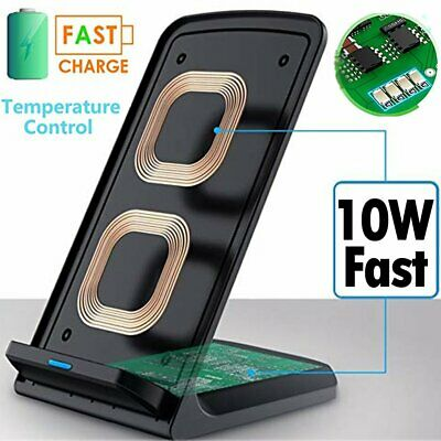 Qi Fast Wireless Charger Charging Pad For Samsung S10 S9 S8 Plus Note 8 9 10