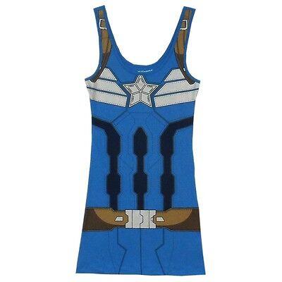 Captain America Winter Soldat Kostüm Marvel Comics Tank - Captain Kostüm Kleid