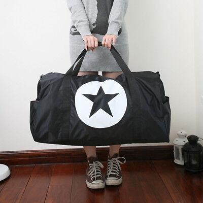 "22"" Black Nylon Foldable Tote Travel Bag Duffle Carry-On Gym Luggage Overnight"