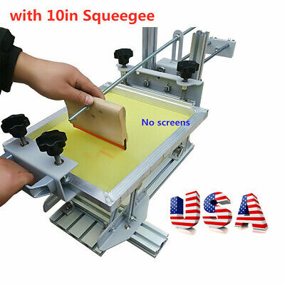 Us Stock Manual Silk Screen Printing Cylinder Machine For Pen Cup Mug