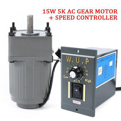Electric Geared Ac Motor Variable Speed Control Reversible Governor Large Torque