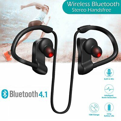 Bluetooth Wireless Headphones Sports Running Stereo Earphones Waterproof UK New