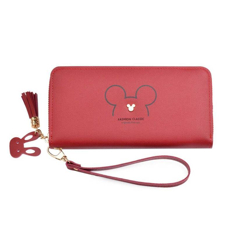 Women Mickey Mouse Cartoon Long Wallet Casual Coin Purse Cluth Bag Cash Handbag Clothing, Shoes & Accessories