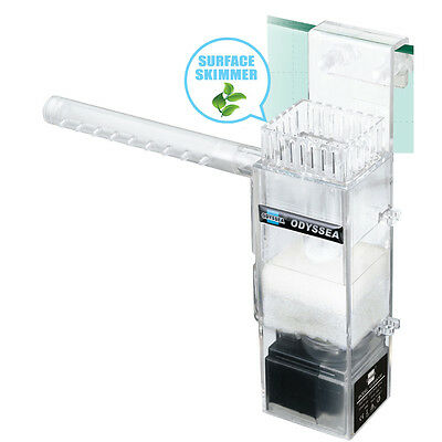 Clean 100 Surface Skimmer Aquarium Filter 450 L Pump Plant Freswater Marine Oil