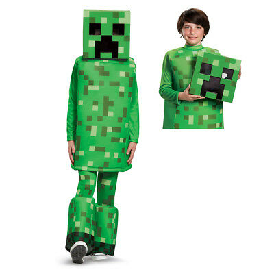 Kids Minecraft Creeper Prestige Halloween Costume