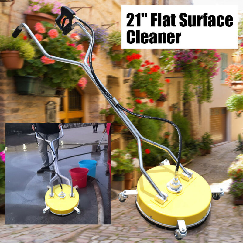 """21"""" Flat Surface Cleaner High Pressure Washer Water Concrete Cleaning Trolley !!"""