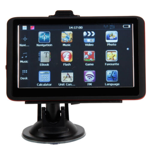 """LCD Touch Screen 5""""Inch TFT Car GPS Navigation USA Canada and Mexico Map"""