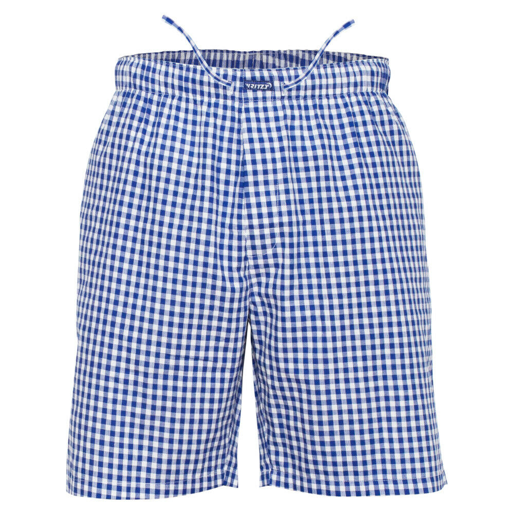 Ritzy Men/Kids/Boys Pajama Pants 100% Cotton Plaid Woven Poplin – BL & WH Checks Clothing, Shoes & Accessories