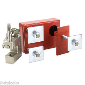 BOLT ON Shipping container lock box ULTIMATE SECURITY. RIGHT HAND OPENING DOOR