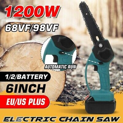6inch 98/68V Mini Electric Pruning Chain Saw Chainsaw 1/2 Battery Garden Using