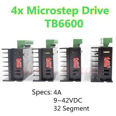 4x Tb6600 Driver Single Axis 4a Stepper Motor Controller 942vdc Module Cnc Mill