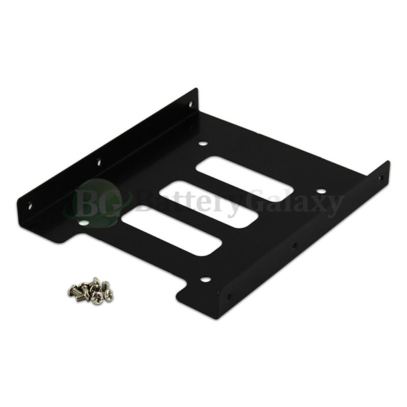 "100 Black 2.5"" SSD to 3.5"" Bay Hard Drive HDD Mounting Dock Tray Bracket Adapter"