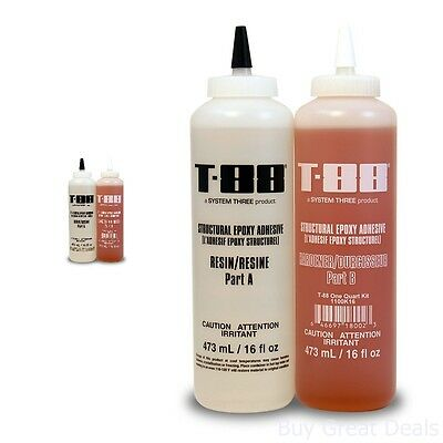 System Epoxy Adhesives Three 1100K16 Amber T-88 Kit Quart Bottle