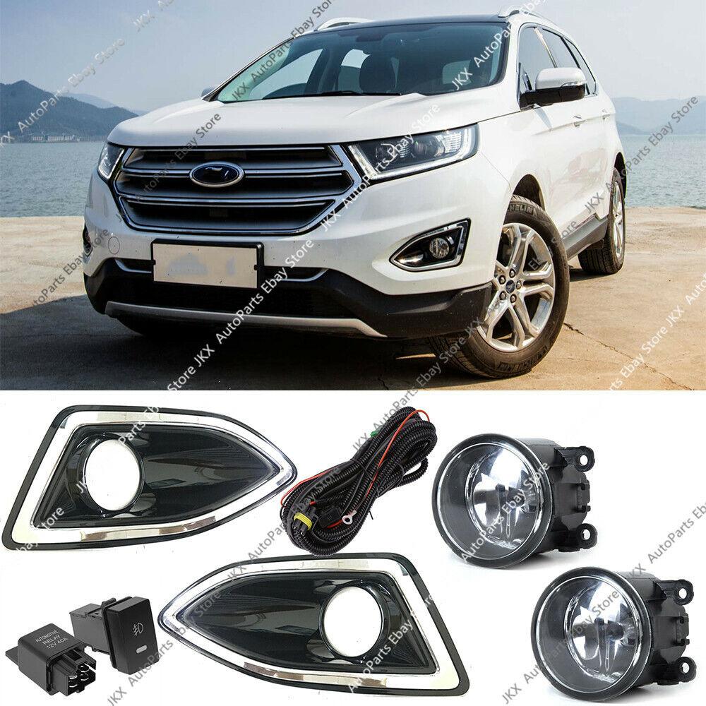 Front Bumper Bezel Fog Lights Lamps Harness Switch Kit For