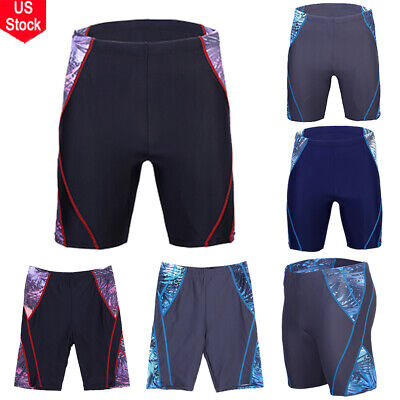 New US Men's Boys Swimming Trunks Boxer Shorts Jammers Swimmers Swim Pants (Mens Swim Jammer)