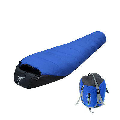 -10℃ Waterproof Outdoor Mummy Sleeping Bag Camping Hiking With Carrying Case New