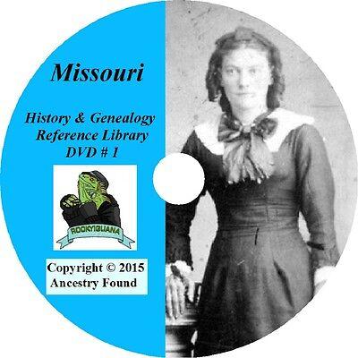 171 old books - MISSOURI History & Genealogy on DVD