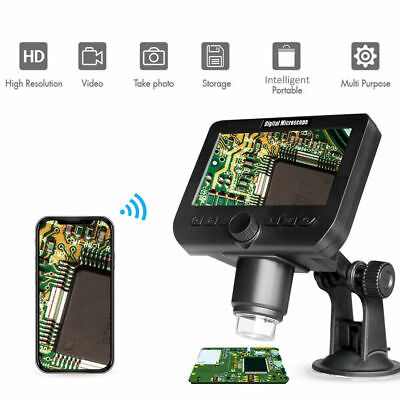 4.3 Lcd Usb Digital Wireless Microscope 8led Zoom Desktop Lab 2.0mp Camera