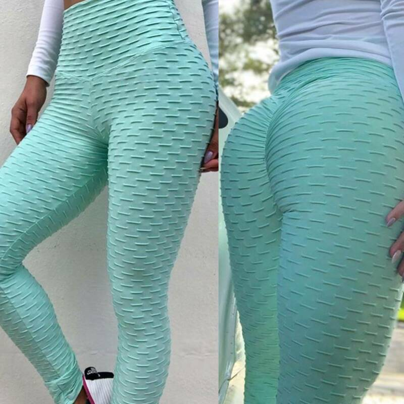 Damen Anti-Cellulite Leggings Yoga Sporthose Fitness Hose Lange Stretch Jogging