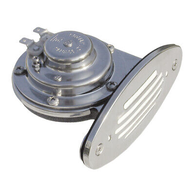 - Schmitt And Ongaro Marine 10050 Mini Single Drop-In Horn Ss Grill 12V Low Pitch