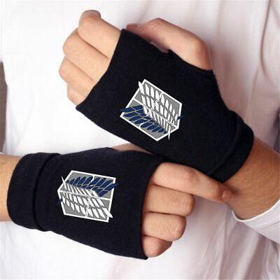 Attack on Titan Fingerless Cotton Gloves Shingeki No Kyojin Anime Accessories](Attack On Titan Accessories)