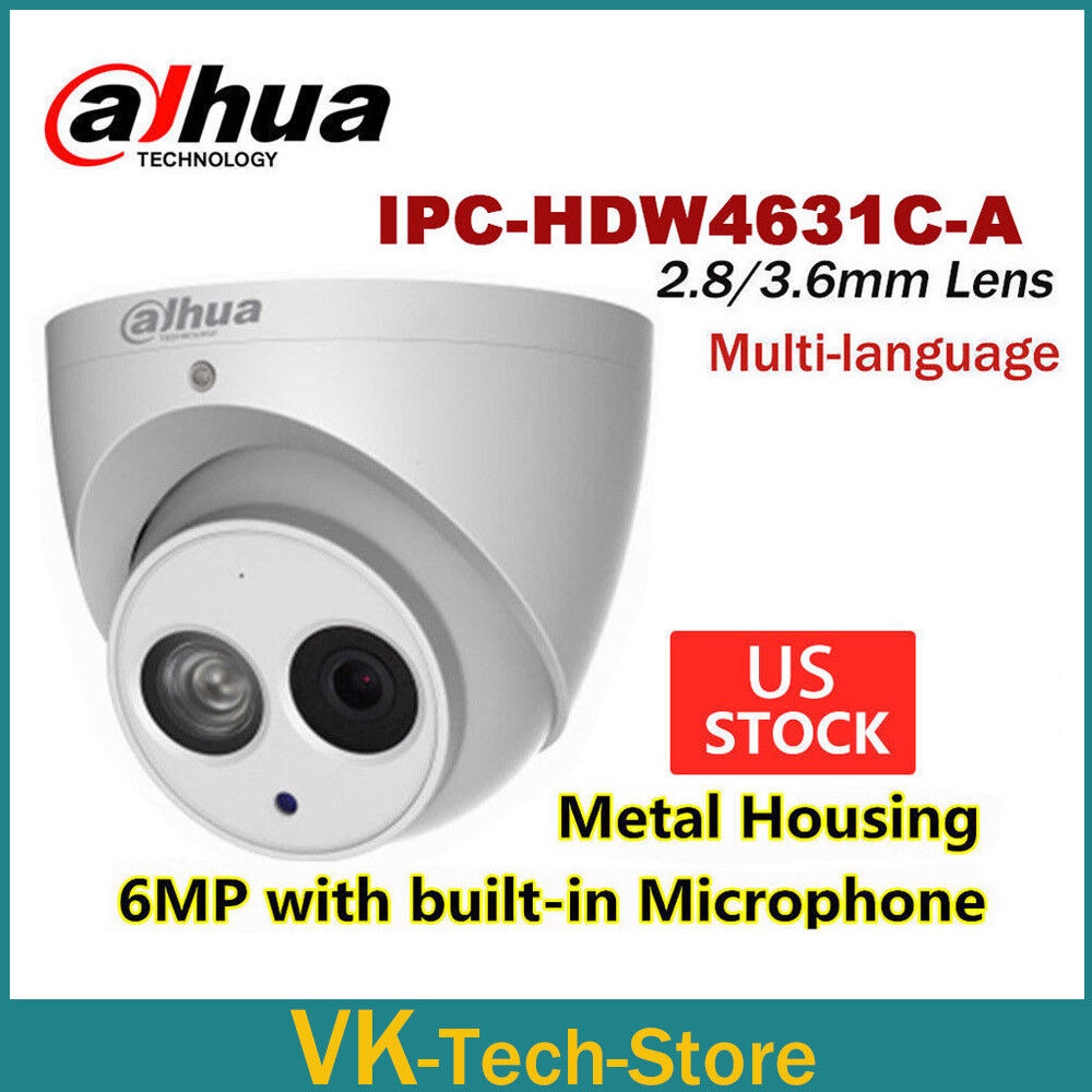 Dahua 6MP IPC-HDW4631C-A Built-in Mic Dome IP POE H.265 Ment