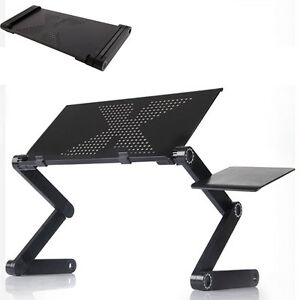 360°Folding Adjustable Laptop Notebook Desk Table Stand Bed Tray W/Mouse Tray