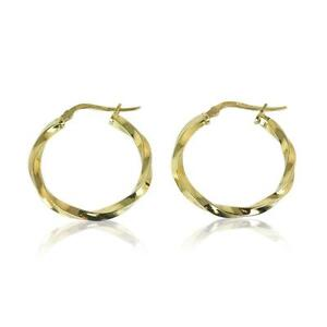 9ct Gold Large Hoop Earrings