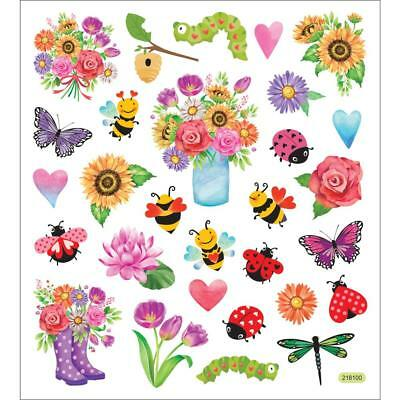 Ladybug Stickers (Scrapbooking Crafts Stickers Spring Flowers Bugs Bees Ladybugs Sunflowers)