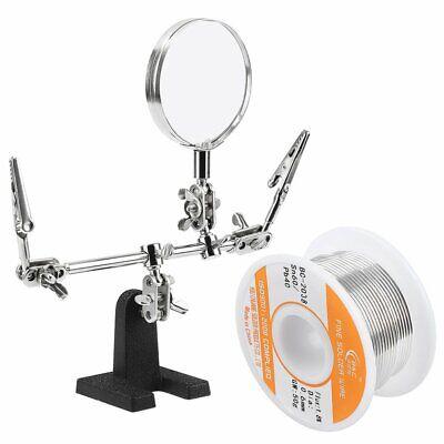 Wyctin Helping Hand With Magnifying Glass Bonus 60-40 Tin Lead Rosin Core Sol...