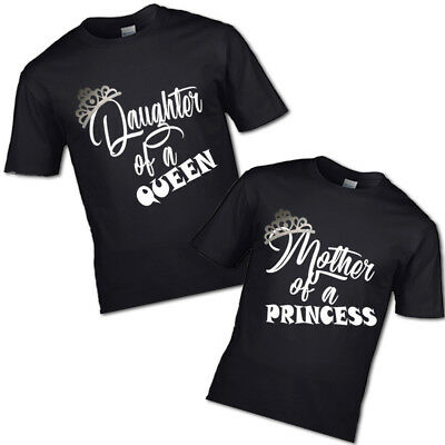 NEW CHROME CROWN MOTHER OF A PRINCESS AND DAUGHTER QUEEN TSHIRT MUM GIRL PRINCES - A Princess Crown