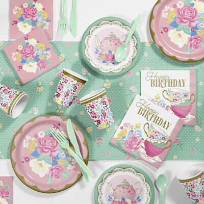 Floral Tea Party Birthday Party Supplies Kit