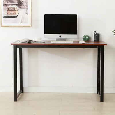 Laptop Table Corner Computer Desk Pc Glass Workstation Home Office Brown Color
